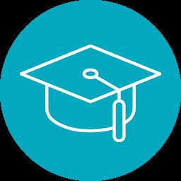 icon image of graduation cap