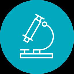 icon of microscope for California Institute for Regenerative Medicine (CIRM)