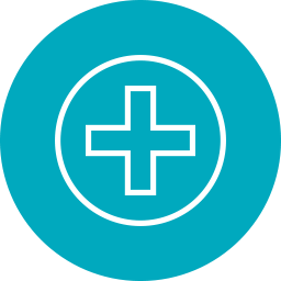 icon of medical cross for Health Resources & Services Administration (HRSA)