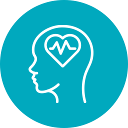 icon of pulse and heart for Substance Abuse and Mental Health Services Administration (SAMHSA)