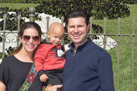 Javier at Disneyland with Parents