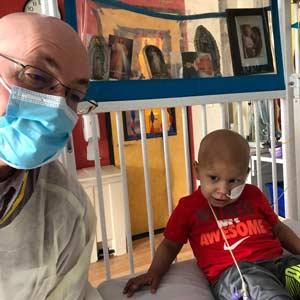 Javier with Reverend Tim Meier