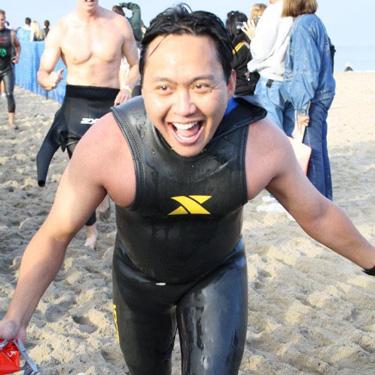 Jed Participating in Malibu Triathlon