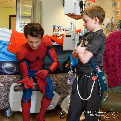 Tom Holland Spider-Man at CHLA