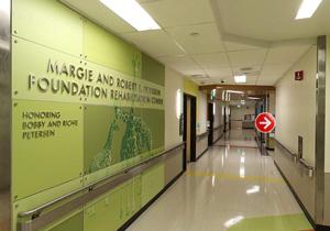 Screenshot of rehab center virtual tour