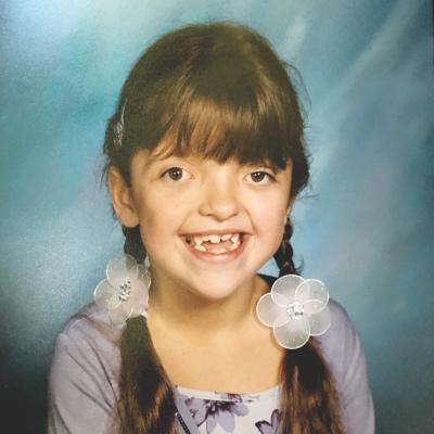 Madison Carmenate at age 8.